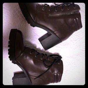 Dark Maroon Boots